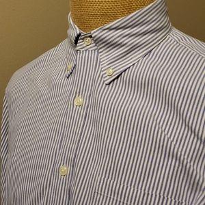 J crew blue white striped vintage oxford shirt
